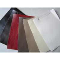 China Easy Clean Polyurethane Faux Textured Leather Fabric For Sofa Cushions on sale