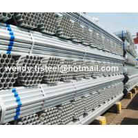 China en10217.1 ERW Hot dipped galvanized round steel pipe/gi pipe pre galvanized steel pipe on sale