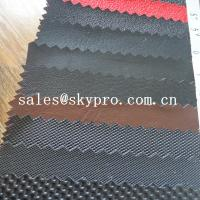 China Durable PVC synthetic leather for car seat and sofa various pattern pu leather on sale