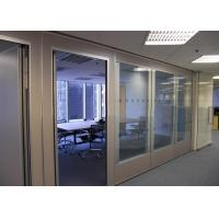 Office Glass Partition Walls , Sliding Glass Partitions For Exhibition Centers Manufactures