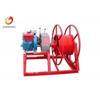 HONDA Gasoline Gas Engine Powered Winch , Cable Pulling Winch In Red Color Manufactures
