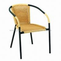 Rattan Chair/Recreation Rattan Chair, PE Rattan and Steel Tube Manufactures