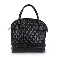 Large Black Quilted Shoulder Bags For Women Crossbody , Zipper Closure