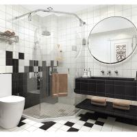 China High Water Absorption Ceramic Bathroom Wall Tiles 15X15cm For Dining Room on sale