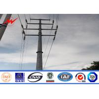 Transmission Line Hot Rolled Coil Steel Power Pole 33kv 10m Electric Utility Poles Manufactures