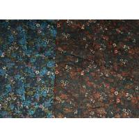 Blue And Brown R/C Printed Stretch Velveteen Fabric 32/2*16+70D Manufactures