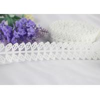 Guipure Embroidery Water Soluble Polyester Lace Trim with Bilateral Leaves Manufactures