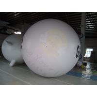 Quality Huge Inflatable Zeppelin Air Balloon White Elastic UV Protected Printing for sale