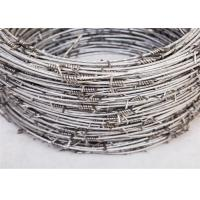 China Anti - Climb 14×14 Guage Security Barbed Wire Hot Dipped Galvanized On Fence Top on sale