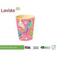 Biodegradable Durable Bamboo Fibre Coffee Cup Nature Pattern With Handrwan Manufactures
