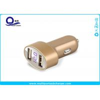 Buy cheap Gold Color Dual Usb Vehicle Charger With Led Display For Samsung Galaxy S8 S7 from wholesalers