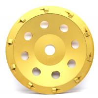 5& 7 PCD Diamond grinding Wheel with quarter size PCD segments For Concrete Floor Coatings Removing Manufactures