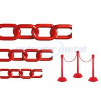 ISO Approved Decorative Lightweight Red Plastic Safety Chain For Street Manufactures
