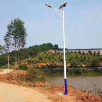 Smart Solar Parking Lot Lights , Solar Powered Street Lights 7M Single Arm Pole Manufactures