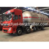 Water Cooled Red Color 6x4 Lpg Tanker Trailer 2.22MPa Hydrostatic Pressure Manufactures
