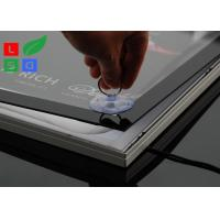 Aluminum Framed Ultra Thin Light Box , 2835 SMD LED Illuminated Poster Displays Boxes Manufactures