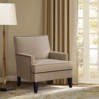 Track Arm Teal Accent Chair Lounge Room With Tight Clean Line Tailoring Offset Manufactures