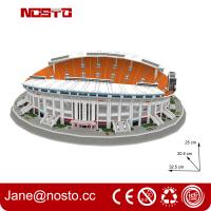 3D puzzle stadium construction kits football stadium model Fun & Educational Toys Manufactures