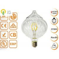 Clear Glass Decorative Led Light Bulbs , Dimmable Tip Pumpkin LED Chandelier Bulbs Manufactures