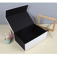 China Black Luxury Paper Gift Box Custom Printed Stationery Boxes on sale
