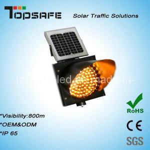 Traffic Anti-High (low) Temperature 400mmsolar Powered Yellow Traffic Warning Flashing LED Light Manufactures