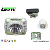 OLED Screen Waterproof Led Headlamp , Hard Hat Light Rechargeable Transparent Cordless Manufactures