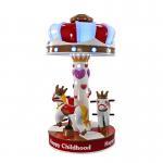 3 Players Carousel Kids Arcade Machine Happy Childhood Mini Carousel Horse Manufactures