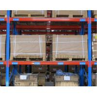 Q235B Steel Heavy Duty Shelf Racks Standard Warehouse Equipment Blue / Orange Color Manufactures