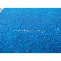 Flexible EVA Foam Rubber Sheets 1mm Thickness Blue Self - Adhesive Glitter Manufactures
