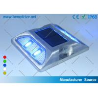 Aluminum Solar Passive Road Stud Reflectors , LED Cat Eyes Road Reflectors Manufactures