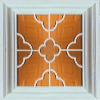Aluminum Framed Mirror Drop Ceiling Tiles , 3 D Texture Indoor Ceiling Manufactures