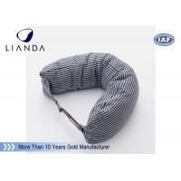 Car Accessories Gray Neck Travel Pillow , Memory Foam Head Pillow With Different Color Manufactures