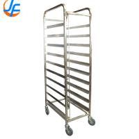Stainless Steel Tray Trolley Shelf Baking Oven Gastronorm Food Tray Rack Trolley Manufactures