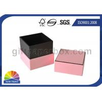 Hard Cover Cardboard / Kraft Paper Jewelry Boxes , Pink Luxury Small Jewelry Box Manufactures