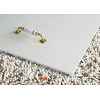 Pure White 9mm / 12mm Laminate Melamine MDF Board Decorative Interior Wall Paneling Manufactures