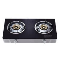 Buy cheap Portable 2 Burner Table Top Gas Cooker , Two Burner Gas Stove With Glass Top from wholesalers