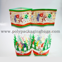 China Side Gusset And Square Bottom BOPP Plastic Bag For Christmas Packaging  With High Transparency on sale