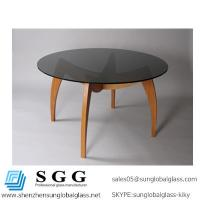 Excellence quality tempering round dining table glass top Manufactures