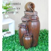 Outdoor Large Household Ceramics Polyresin Water Fountain Pot Design 22.5 X 22.5 X 42 Cm Manufactures