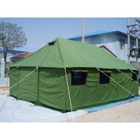 Refugee PVC Fabric Canvas Army Tent Rot Proof With Strong Wind Resistant Manufactures