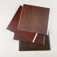 Dark Wooden Color PVC Wall Panels , Pvc Wall Cladding For Hotel Or Home Manufactures