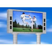 SMD3535 outdoor Led Message Board , P10mm Waterproof Led Curtain Video Wall Manufactures
