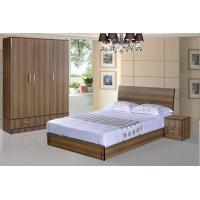 Cheap style rent Apartment home furniture melamine plate bed 1.2m- 1.5m-1.8 m light walnut color Manufactures