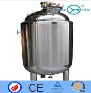 Sanitary  Biological  Vertical Storage Tanks Polished Surface Manufactures