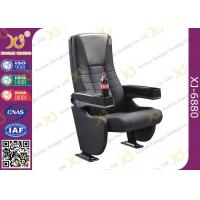 Grey Longer Back Movie Chair Furniture / Cinema Theatre Seats Manufactures