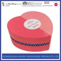 Red Heart Shaped Cardboard Gift Boxes Large Food Packaging Free Samples Manufactures