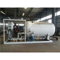 China LPG Propane Butane Gas Tank , Q345R Carbon Steel Gas Filling Plant With Dispenser on sale