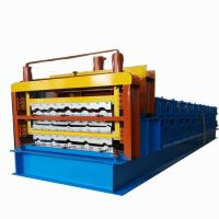 Buy cheap Three Layer Corrugated Roof Tile Roll Forming Machine Roof Panel Roll Forming from wholesalers