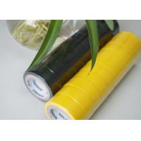Flame Retardant Yellow / Black PVC Electrical Tape Low Lead And Low Cadimum Manufactures