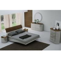 E1 Board High Gloss Bedroom Furniture with Veneer and Optional Wardrobe Manufactures